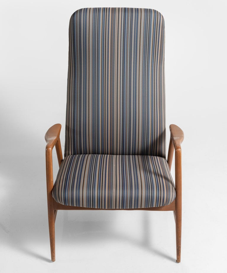 Pair of Kontour Armchairs in Nylon by Alf Svensson, Germany, circa 1950 For Sale 1