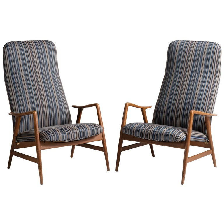 Pair of Kontour Armchairs in Nylon by Alf Svensson, Germany, circa 1950 For Sale