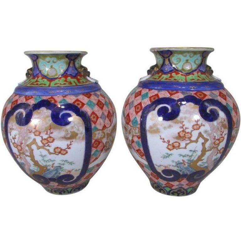 Pair of Koransha Porcelain Imari Vases Meiji Period, circa 1875
