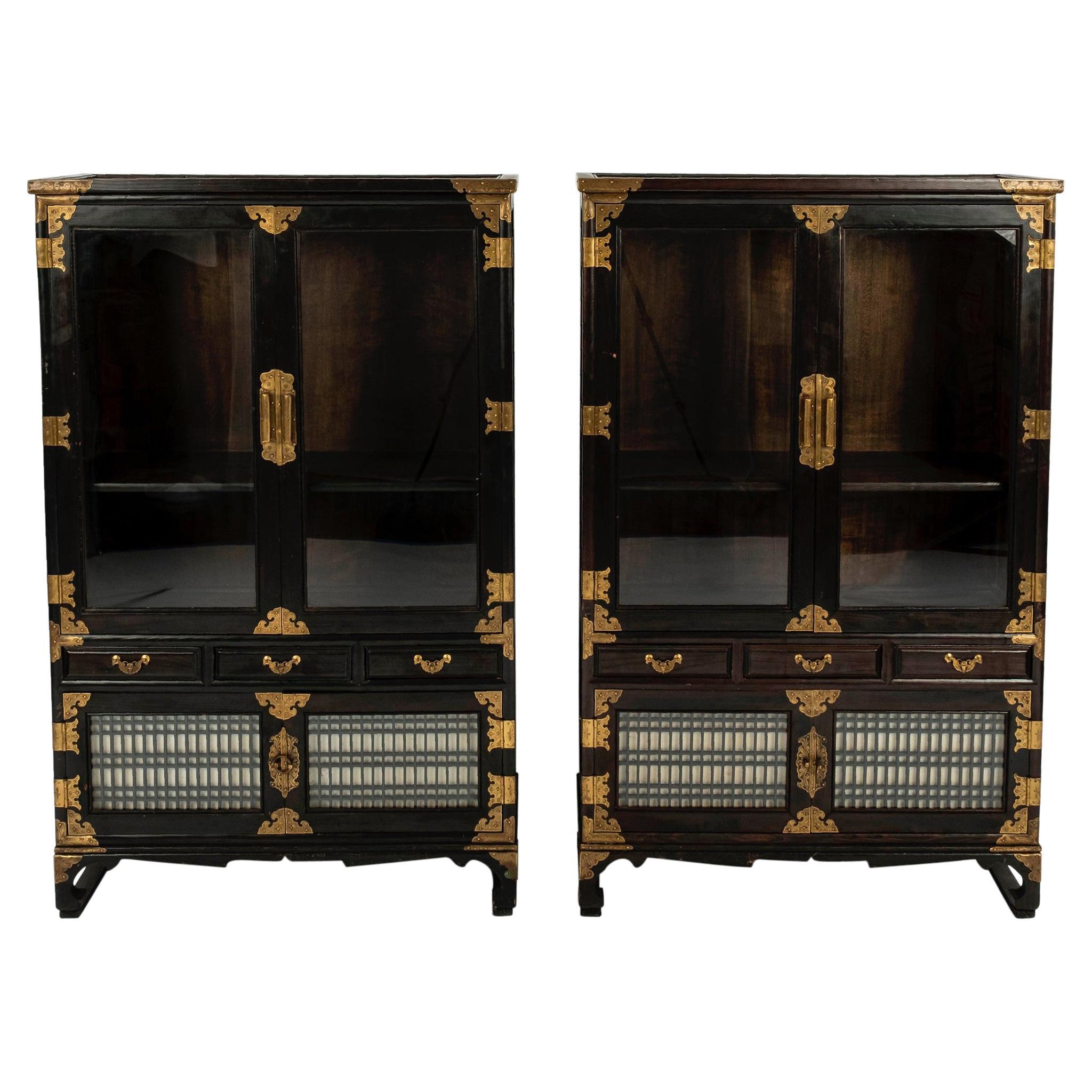 Pair of Korean Display Cabinets