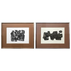 Pair of Korean Lithographs by John Lee