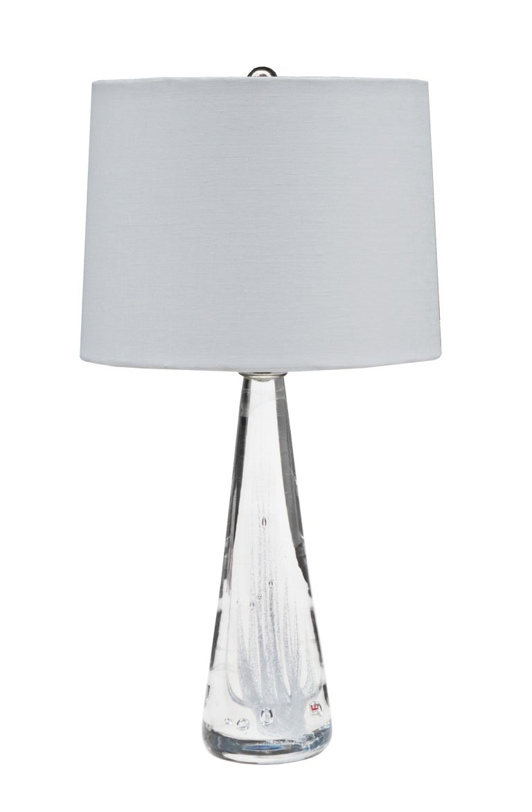 Pair of Swedish modern glass table lamps