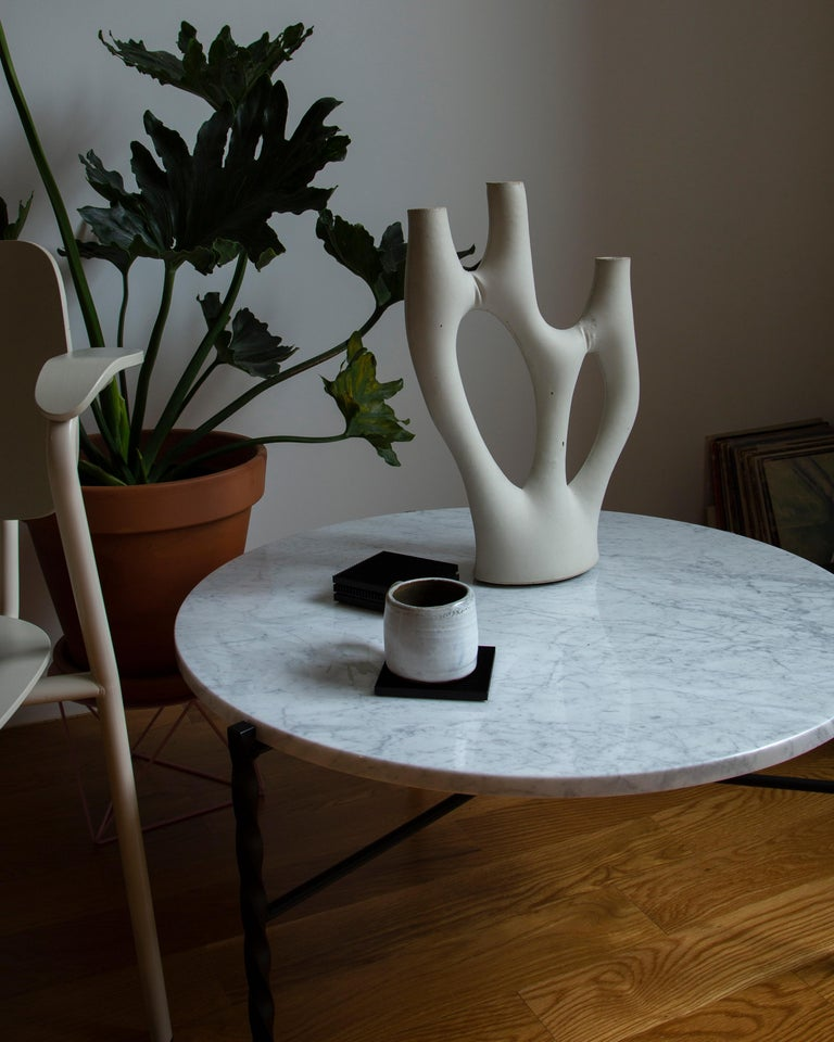 Organic Modern Pair of Kreten Candelabras from Souda Grey, Made to Order For Sale