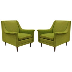 Pair of Kroehler Mid-Century Modern Sculptural Club Lounge Chairs after Pearsall