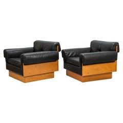 Pair of Kurt Hvitsjö 'zorbas' Lounge Chairs in Teak