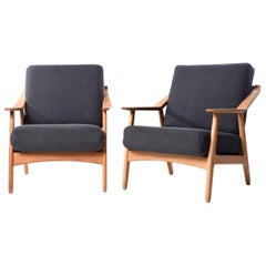 Pair of Kurt Ostervig Oak Easy Chairs
