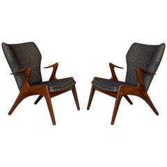 Pair of Kurt Ostervig Sculptural Lounge Chairs