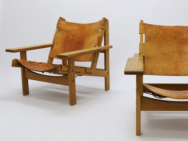 Scandinavian Modern Pair of Kurt Østervig Hunting Chairs For Sale