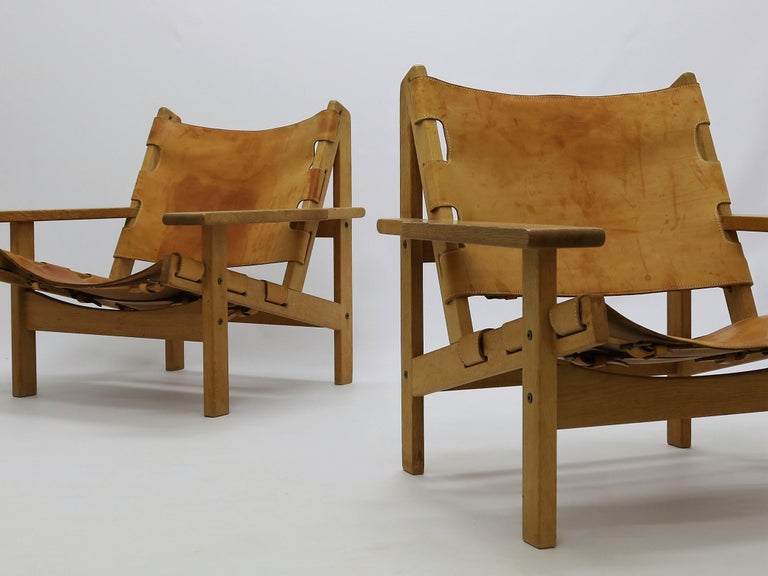 Pair of Kurt Østervig Hunting Chairs In Good Condition For Sale In Odense, DK