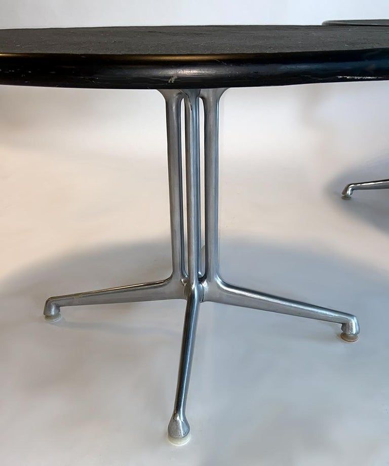 Pair of La Fonda Slate Coffee Tables by Charles and Ray Eames for Herman Miller In Good Condition For Sale In Ft Lauderdale, FL