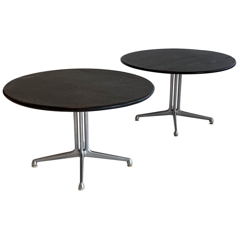 Pair of La Fonda Slate Coffee Tables by Charles and Ray Eames for Herman Miller For Sale