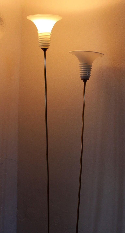 Italian Pair of La Murina Brass Floor Lamps For Sale