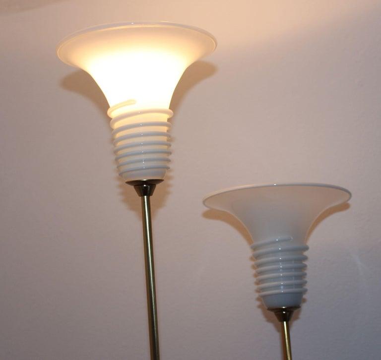 Pair of La Murina Brass Floor Lamps For Sale 2
