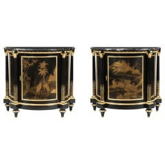 Pair of Lacquer and Ormolu-Mounted Cabinets in the Louis XVI Manner by Millet