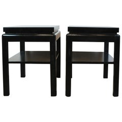 Pair of Lacquer End Table