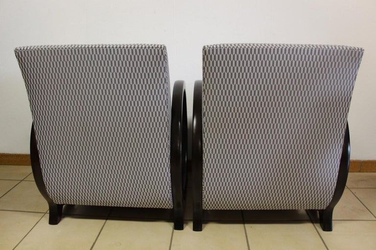 20th Century Pair of Lacquered Art Deco Armchairs  For Sale