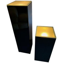 Pair of Lacquered Column Lamp by Guy Lefevre, France, 1970s