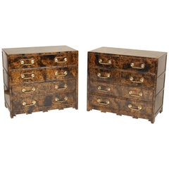 Pair of Lacquered Commodes by Baker