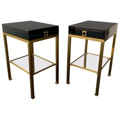 Pair of Lacquered Side Tables by Guy Lefevre, France, 1970s