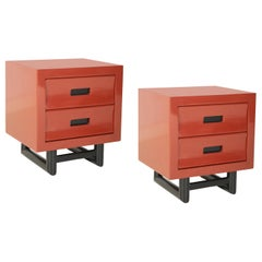 Pair of Lacquered Side Tables in the Manner of Jay Spectre