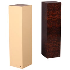 Pair of Lacquered Wooden Base