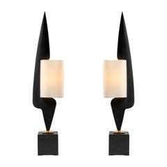 Pair of Lamp by Arlus, 1950