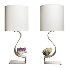 Pair of lamps by Claude de Muzac