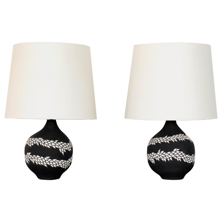 Pair of Lamps by Jennifer Nocon For Sale