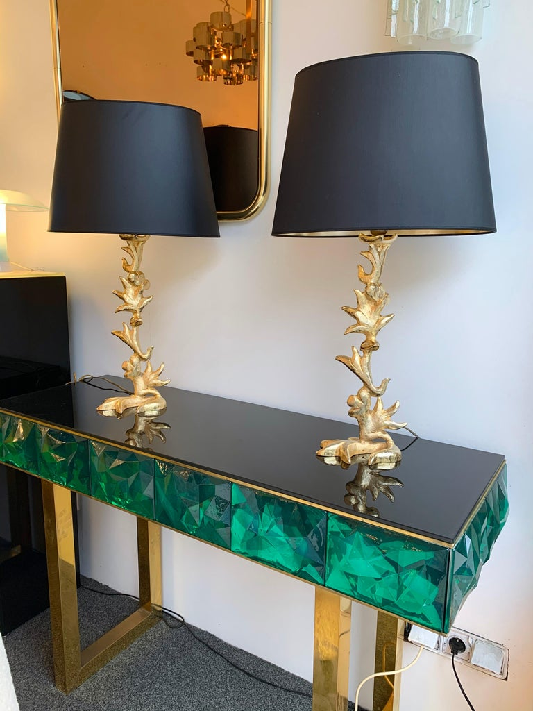 Brutalist Pair of Lamps by Mathias for Fondica, France, 1990s