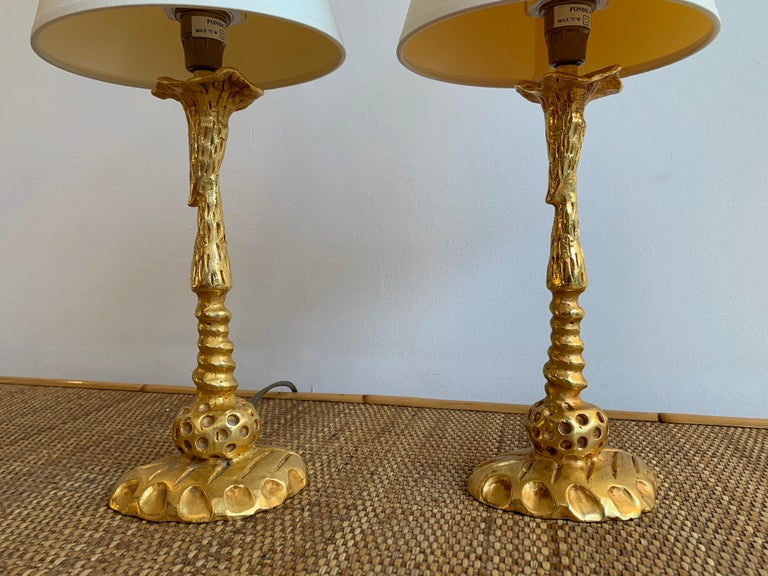 French Pair of Lamps by Mathias for Fondica, France, 1990s For Sale