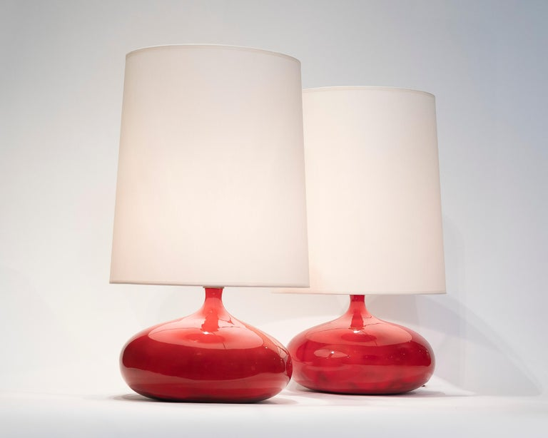 Pair of Lamps by Ruelland In Fair Condition In Paris, FR