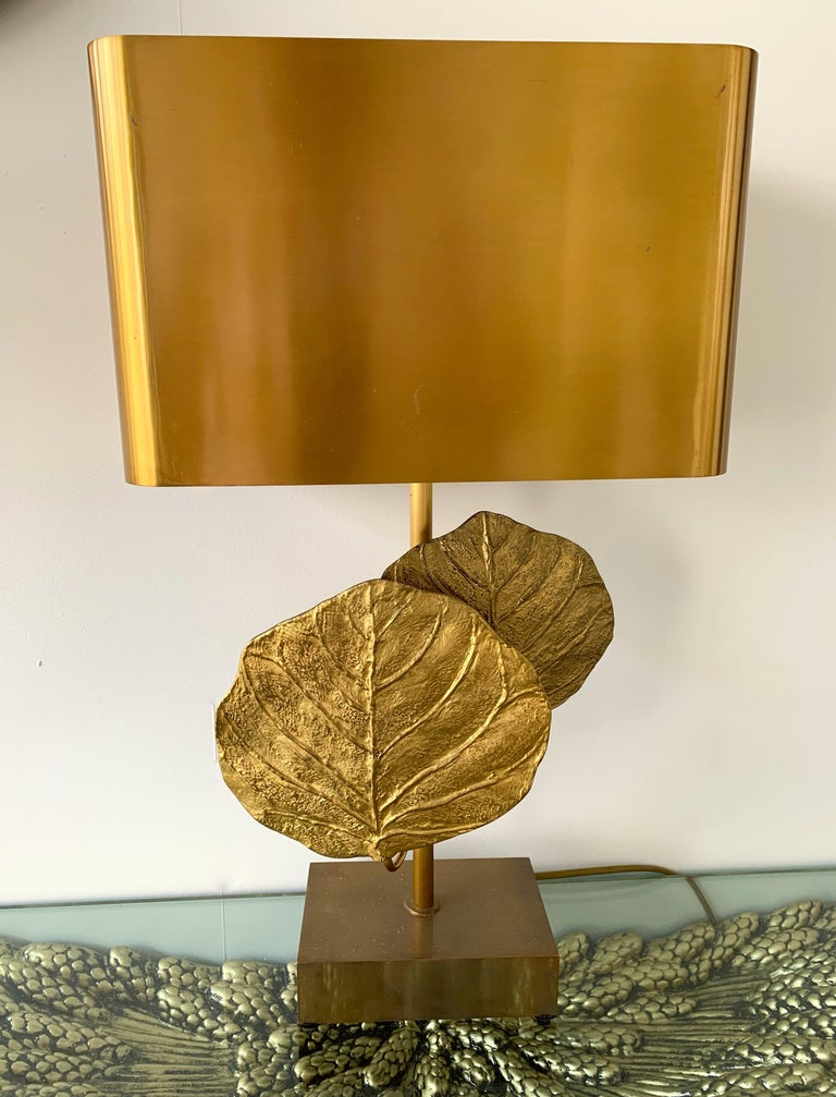 Pair of Lamps Guadeloupe by Maison Charles, Bronze, 1970s, France For Sale 4