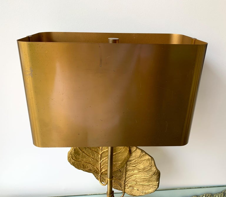 French Pair of Lamps Guadeloupe by Maison Charles, Bronze, 1970s, France For Sale