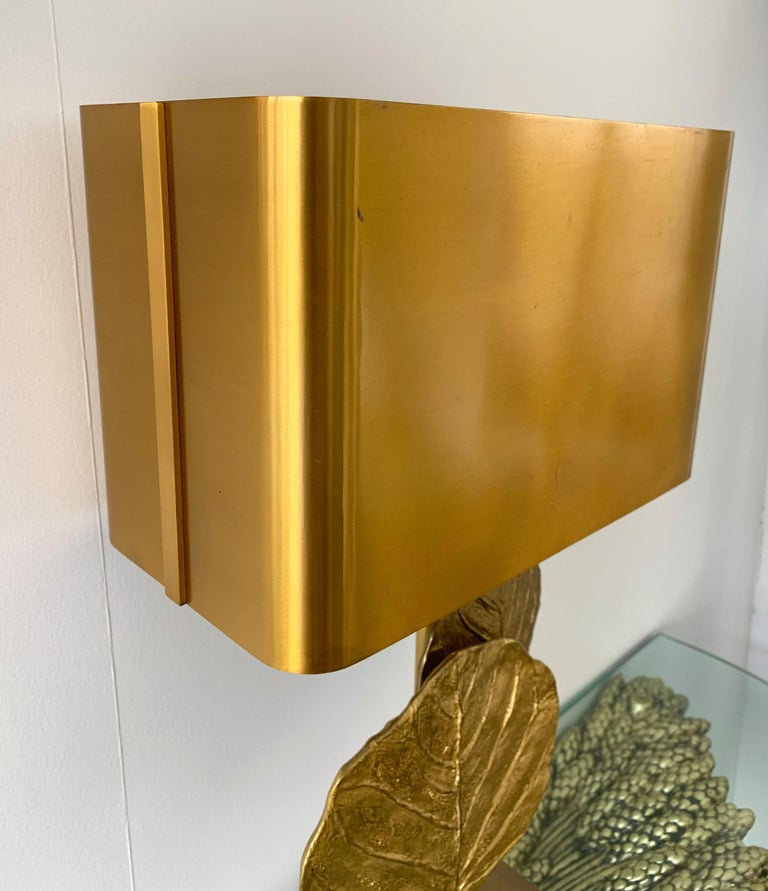 Gilt Pair of Lamps Guadeloupe by Maison Charles, Bronze, 1970s, France For Sale