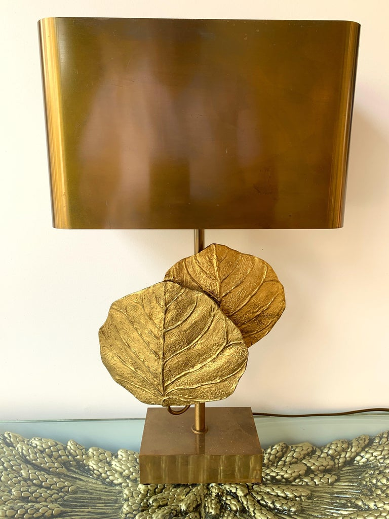 Late 20th Century Pair of Lamps Guadeloupe by Maison Charles, Bronze, 1970s, France For Sale