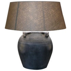 Pair of Lamps, Old Clay Pot Lamps