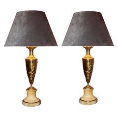 Pair of Lamps 'Venus Bathing' by Claude Michel Clodion, Signed