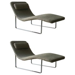 Pair of Landscape Chaise Lounges by B & B Italia
