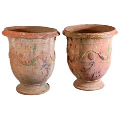 Pair of Large 18th Century Anduze Jars