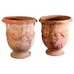 Pair of Large 18th Century Anduze Jars