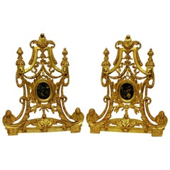 Pair of Large 18th Century Baroque Reliquaries Now Containing Oil Paintings