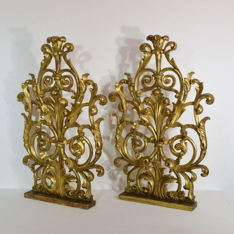Unique and very beautiful giltwood ornaments. They most likely once adorned a church altar.