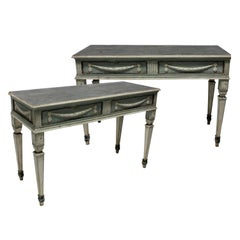Pair of Large 18th Century Swedish Console Tables