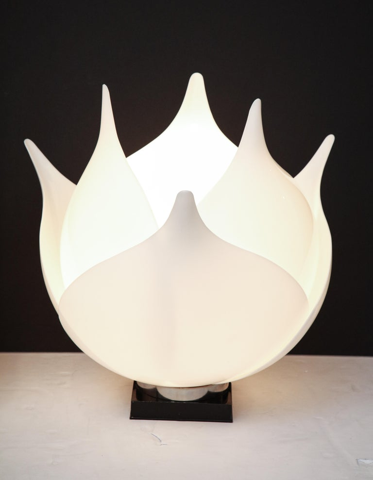 Pair of Large 1980s Rougier Lamps In Good Condition For Sale In New York, NY