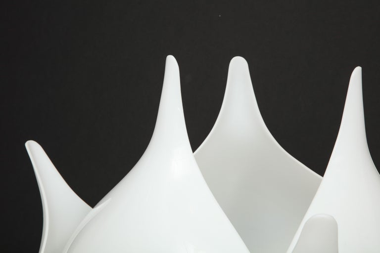 Late 20th Century Pair of Large 1980s Rougier Lamps For Sale
