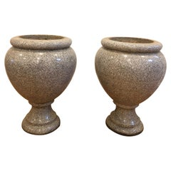 Pair of Large 19th Century French Granite Urns