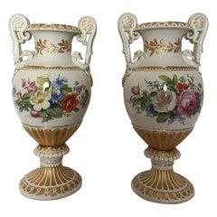 Pair of Large 19th Century Meissen Vases