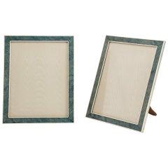 Pair of Large 20th Century Art Deco Shagreen Photo Frames, circa 1935-1938