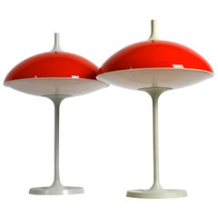 Pair of Large 1960s Pop Art Space Age Table Lamp by Temde Made in Switzerland