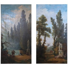 Pair of Large and Majestic European Oil Paintings
